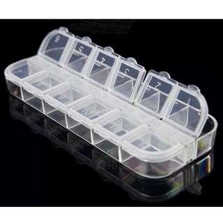 👼美甲工具👼全新/12格收納盒/獨立開蓋/飾品收納/實用收納盒