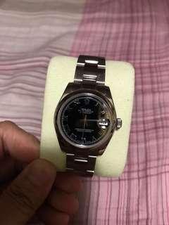ROLEX Datejust 178240 蠔式恆動日誌型腕錶黑羅馬錶面31mm