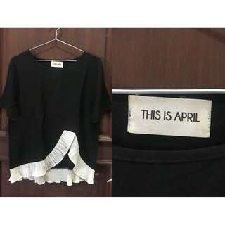 This is april bw blouse