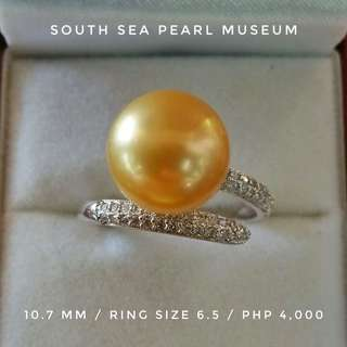 South sea pearl ring (10.7 mm)