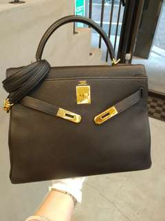 Hermes kelly 32 in black togo