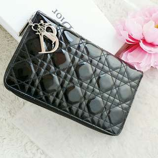 Christian Dior Large Zip Around Wallet