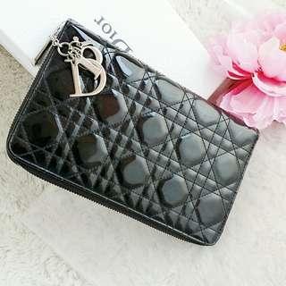 Christian Dior Large Zip Around Wallet