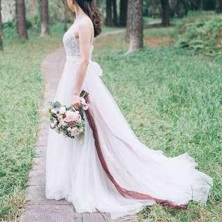 Pier 94 wedding gown boho 婚紗