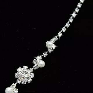Set perhiasan pesta kalung+anting