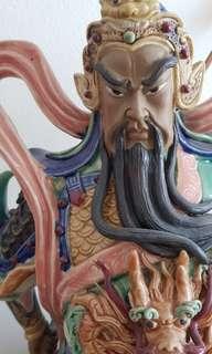 Porcelain Guan Yu Chang (Guan Gong)