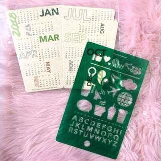 starbucks calendar and ruler