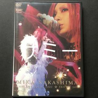中島美嘉『MIKA NAKASHIMA CONCERT TOUR 2007 YES MY JOY』(🇯🇵日本盤DVD)