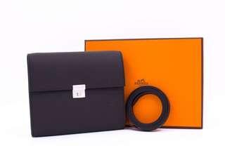 全新 Hermes Clic Black Epsom Should Bag