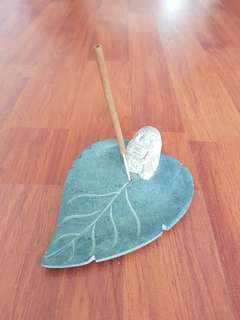 Monk-on-Leaf incense stick holder
