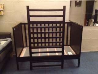 Like NEW Ikea Wooden Black SUNDVIK Baby Cot