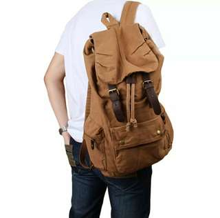 Vintage Casual Canvas Backpack