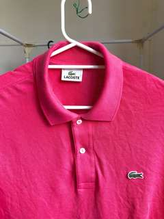 Lacoste Polo Pink