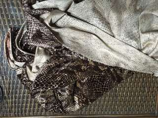 Snakeskin print cloth