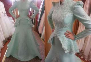 XS TO XXXXXXXXL Wedding Gown made to order. Fabric by us included. matching for groom. veils hijab. Any colors