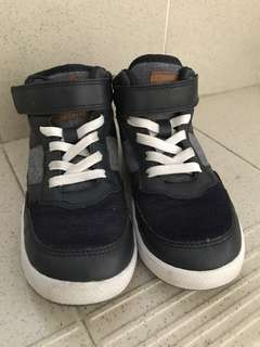 H&M Dark Blue Rubber shoes with denim