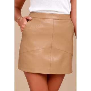 NEW! - Lulus Harley Tan Vegan Leather Skirt