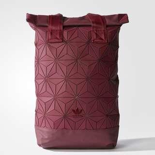 Adidas Issey Miyake Maroon Red Backpack