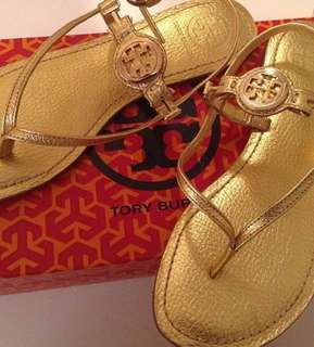 Tory Burch Gold Sandals Size 6 (Authentic)