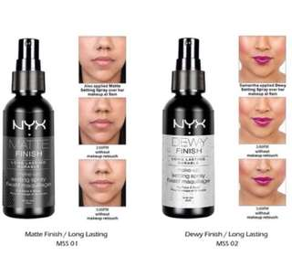 NYX SETTING SPRAY (MATTE&DEWY) ORIGINAL NYX