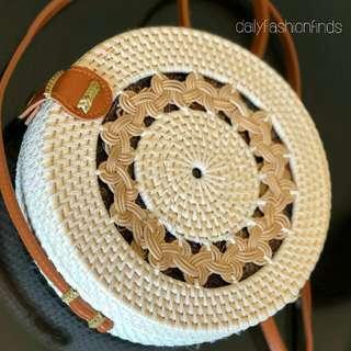 Handwoven Round Rattan Bali Bags