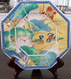 Octagon Hand Painted Plate