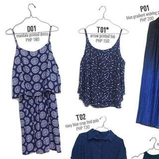 Navy Blue Printed Dress