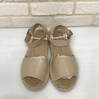 ZALORA草編涼鞋