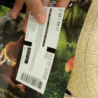 Singapore Zoo ticket with tram
