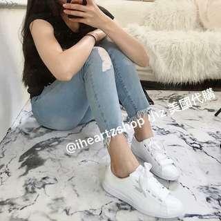 Puma 緞帶 鞋  白色
