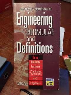 Engineering formulae & definitions