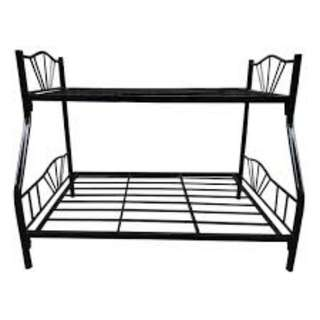R-Type Double Deck Bed Frame (Queen and Single)