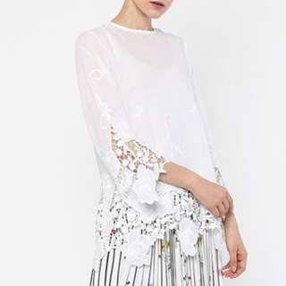 [LOOKING FOR] White Embroidered Top