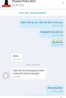 Testimoni from lovely customer ❤️❤️❤️