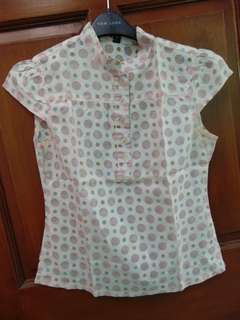 H&M Divided  Polkadot Pink Top