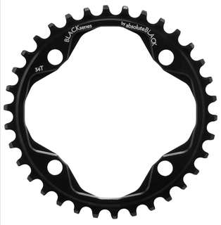 🆕! 34T Absoluteblack 104bcd Narrow Wide Single Chainring  #OK 104 Bcd Black Chain Ring