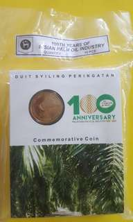 COIN CARDS PALM OIL IND. 100 TH YEARS