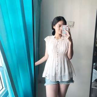Light pink Babydoll Top