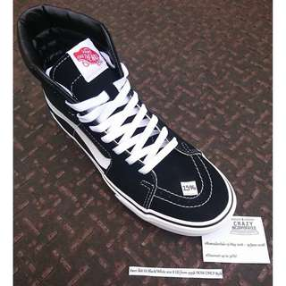 #RamadanSale #CrazyIncSale Vans Sk8-Hi Black/White Original
