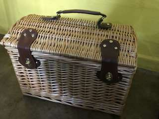 Picnic box, complete with cutlery