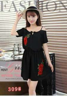 DRESS W/ PATCHES