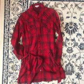 Bossini Checkered Red Dress