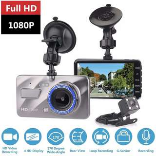 Oloey™ 1080p Car Dashcam Front and Back