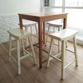 High Table with 4 Chairs
