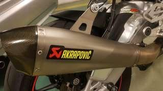 S1000rr Akrapovic racing line full system