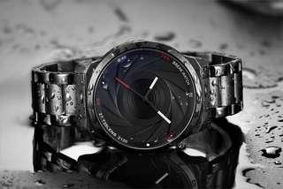 Camera Lens Inspired Watch