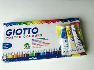 Brand new Poster color set 12+3 tubes