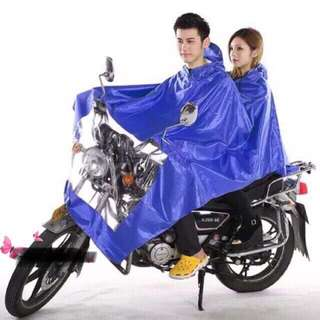 Double raincoat motorcycle