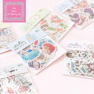 40pcs Sketched Lovely Anime Webtoon Sticker Pack
