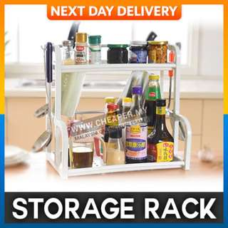 Creative White Home Plastic Kitchen Storage Rack